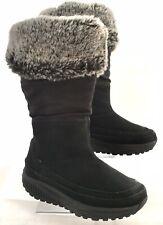 Skechers 24874 Shape Ups Faux Fur Lined Black Leather Winter Boots Women's 5.5