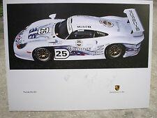 PORSCHE FIA GT1 1997 1998  Winning Car Autographed Wollek Stuck Boutsen
