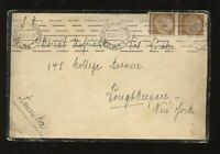 GERMANY 1935 LARGE MOURNING COVER to NEW YORK