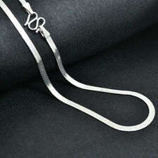 Pure Solid Platinum 950 Necklace / Craved Men&Women Curb Snake Necklace/ 14.5g