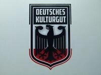 Deutsches Kulturgut Adler Oldschool Retro Sticker Oldtimer & Youngtimer Vintage