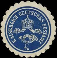 K. Deutsches Postamt Siegelmarke - 413159