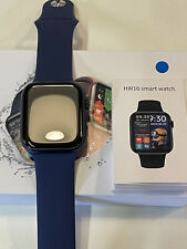 Smart watch 2021 HW16 Blue For Apple Iphone Android IOS  44 mm fullHD Bluetooth
