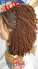 "Fully Braided Lace front Wig corn row medium Box kinky twist Color # 30 6"" to10"""
