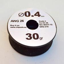 0.4 mm 26 AWG Gauge 30 gr ~27 m (1 oz) Magnet Wire Enameled Copper Coil