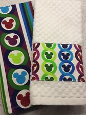 Disney Parks Mickey Mouse Color Fusion Icon 2 Dish Towel Set Rainbow Pride Tea