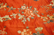 Pre 1900s ANTIQUE VERY FINE SILK CHINESE EMBROIDERY WALL HANGER 2.3x2.10 TEXTILE
