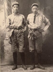 Antique 1890's Tuscumbia Missouri Baseball Players Cabinet Photo Early Old Glove