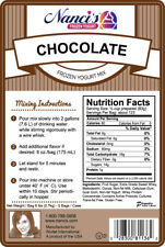 Frozen Yogurt Mix - Chocolate (6lb bag)