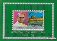 Nordjemen (Arabische Rep.) Block100 (kompl.Ausg.) postfrisch 1969 Papst Paul VI.