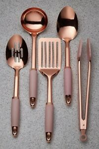 5Piece Kitchen Tool SET Stainless Steel With Rose Gold Effect Coating UTENSILS