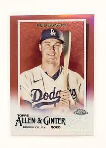 2020 Topps Allen & Red Chrome Green #184 Joc Pederson 3/5 Dodgers SSP