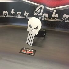 """Punisher Skull Hitch Cover - STYLE 2 - 1/8"""" Steel - Tow Towing Reese Custom"""