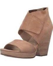 New Eileen Fisher ~ Art to Wear ~ Wheat Clip Open Toe Heeled Sandal Shoe ~ 8 M