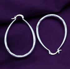 925 Sterling Silver Plated women Fashion jewelry beautiful Hoop earrings gift H2