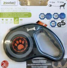 Zoofari Ausziehleine Hundeleine 5 m 12 kg grau orange