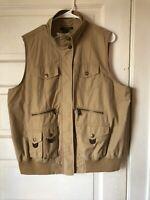 Vintage Ralph Lauren Polo Sportsman Hunting Vest Made In USA Mens Size XL Khaki