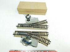 BJ735-0,5# 2x Märklin H0/00/AC E-Weiche M-Gleis für 3600/800 sehr gut + OVP