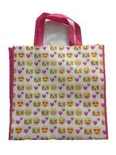 Emoji Strong Shopping / Carrier Bag Reusable Novelty Item Pink
