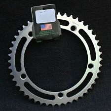 """Made In Usa Track Chainring - 46 Teeth - 144 Mm Bolt Pattern - 1/2""""x1/8"""" - New"""