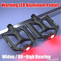 PROMEND BMX Bicycle Pedal Widen LED MTB Road Bike Pedal Ultralight DU 3 Bearing