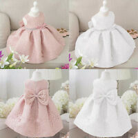 US Flower Girl Dress Lace UP Bridesmaid Dress Solid Gown Formal Party Dresses