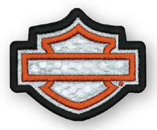 Harley-Davidson Embroidered Reflective Blank B&S Emblem Patch, XS Size EM1144381