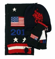 Ralph Lauren Polo 2014 Sochi Olympics USA Wool Scarf Hat Gloves S/M New $331