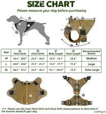 Rabbitgoo Tactical/military Dog Harness Vest Medium with Handle Tan NEW Open box