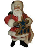 "Clothique by Possible Dreams Ltd Christmas 2000 Santa 11"" Toy Bag Tree Decor"