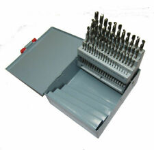 RDGTools 60pc Wire Gauge Number Drill Set 1-60 HSS Drills Bright White Finish