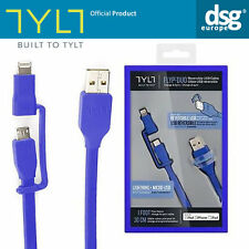 Genuine TYLT Apple MFI Lightning Charge Rev-Micro USB Cable iPhone Smartphones
