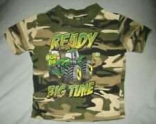John Deere Ready For the Big Time Infant T-Shirt Camo Boys Size 18 Months