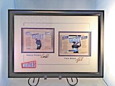 Tiger Woods Arnold Palmer Framed Wheaties Boxes 24k Gold Signatures 8/500 Rare