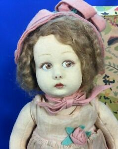 "Antique Lenci Doll 111 Series 12"" Girl with All Original with Box 1920's"