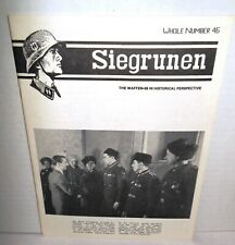 WW2 PERIODOCAL Siegrunen V8 #4 Whole Number 46 1988 op Waffen SS History