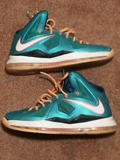 Nike Air Max LeBron X GS Dolphins Size 13