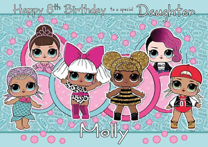 LOL DOLLS personalised A5 birthday greeting card - any NAME AGE RELATIONSHIP
