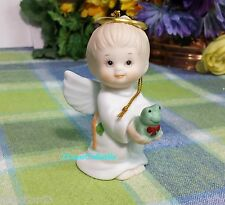 Enesco Morehead Angel Boy with frog ornament 1987