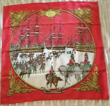 Hermes Silk Twill Carre Scarf Foulard -Marine et Cavalerie