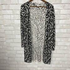 Womens Sweet Romeo XS Animal Print Cheetah Long cardigan Duster Sweater