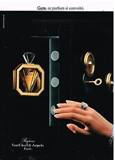 "Publicité Advertising 1987 Parfum ""Gem"" par Van Cleef & arpels"