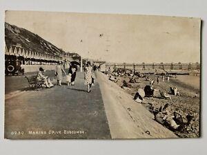 Postcard - Marine Drive Boscombe - Posted 1947 Bournemouth Dorset