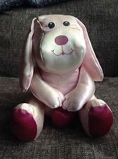 Vintage RUSS Pink Satin Dog Holding Heart