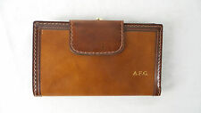 Vintage Never Used Womens Leather Clutch Wallet Coin Purse Echt Prym Snap