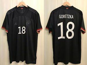 5+/5 Deutschland #18 Goretzka 2020/2021 away 2XL Germany shirt jersey trikot XXL