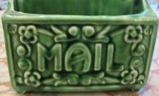 Vintage Green Ceramic Wall Mounted Mail Letter Holder