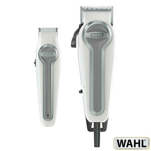 Wahl Elite Pro Hair Clipper and Trimmer Kit with 18 Heads Accessory & Case White