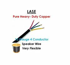 LASE 12 AWG Gauge 4 Conductor Heavy Duty Speaker Wire (Sold in 10 Ft Increments)