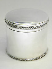 SOLID SILVER BOX / BISCUIT BOX / CANDY / SWEETIE TIN / TEA CADDY BIRMINGHAM 1996